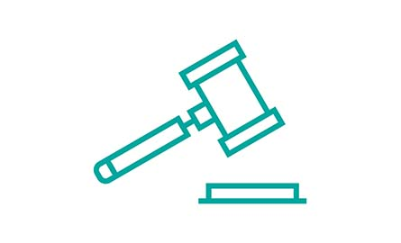 vector graphic of a gavel
