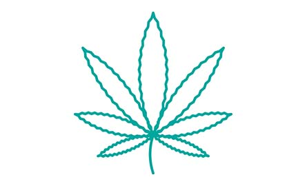 vector graphic of marijuana leaf