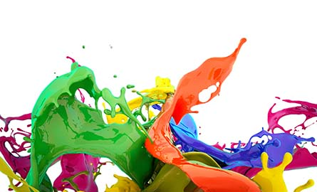splash of different colors of paint